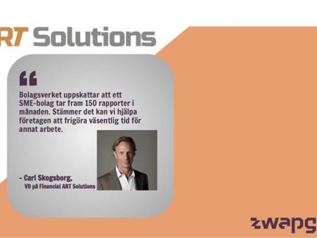 Zwapgrid och Financial ART Solutions möjliggör automatisering av rapporter för SME-bolag