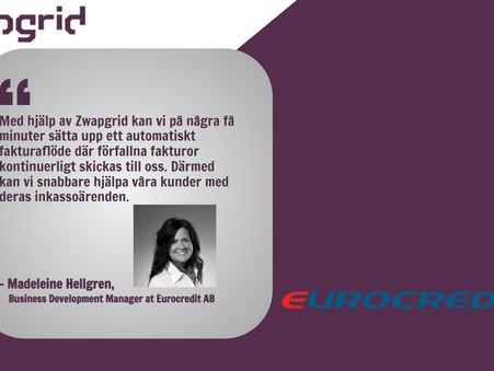 Automatiskt fakturaflöde möjligt när Zwapgrid inleder partnerskap med Eurocredit AB