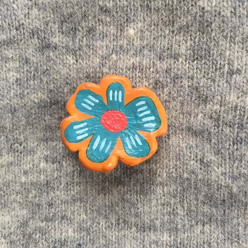 Flower Doodle Pin