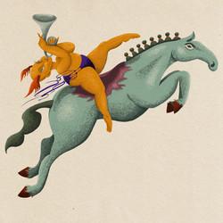 Horse Trumpet Sticker_texture