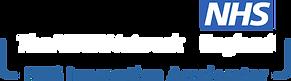 NHS Innovation Accelerator Logo (white t