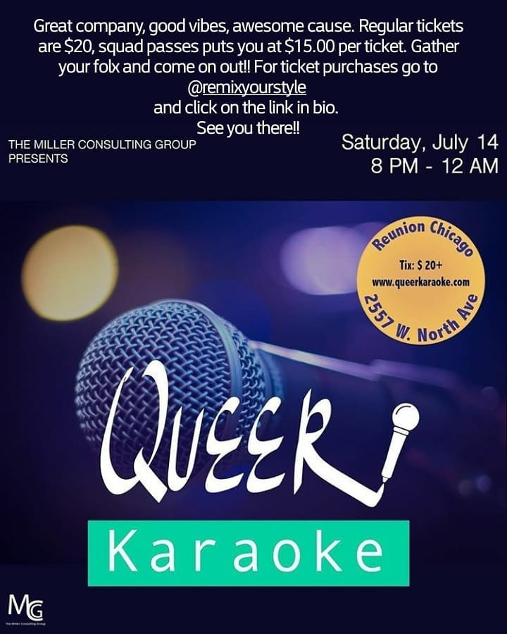 The Miller Consulting Group hosted a Queer Karaoke fundraiser for partial proceeds donated to Beautiful Brown Bag.