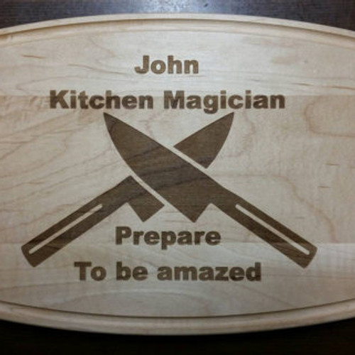 Personalized Kitchen Magician Maple Cutting Board