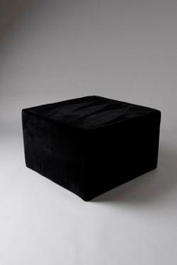 Black large square pouf VL