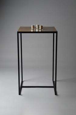 Brass Poseur Table
