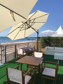 Croisette furniture - Cannes cabanas