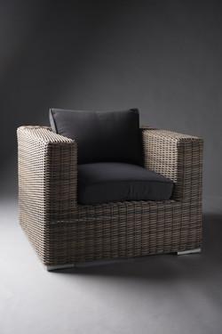 Rattan armchair black 4