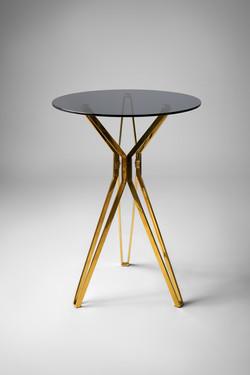 Black & Gold Poseur Table