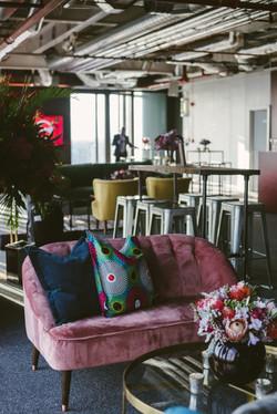 Paris sofa velvet living furniture hire.