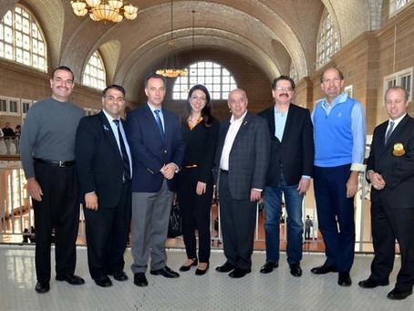 AHEPA Celebrates Oxi Day at Ellis Island
