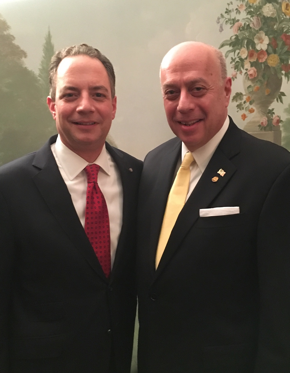 SP Zachariades with WH Chief of Staff Priebus