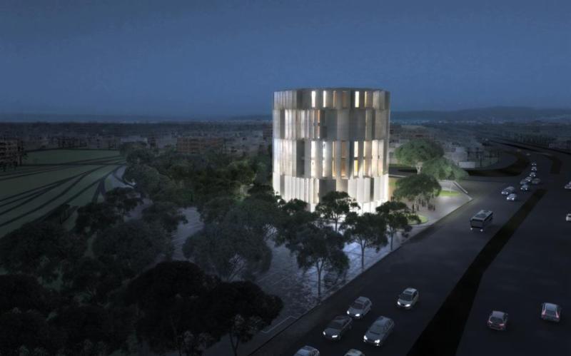 Image of museum rendering from Ekathimerini.