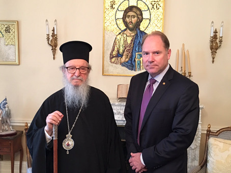 Archbishop Demetrios Proclaims May 20 as AHEPA Sunday