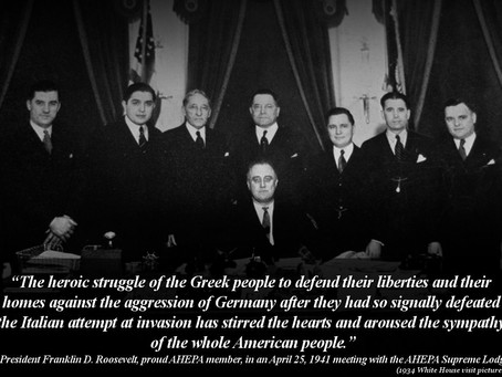 FDR's Words about Greece's Defiance Remembered - AHEPA Commemorates Oxi Day