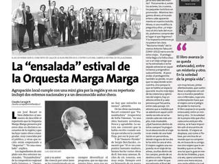 Nota de prensa, diario La Estrella de Valparaíso.