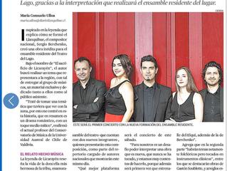 Obra inédita tiene su estreno en concierto dedicado a Chile.
