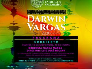 Orquesta Marga Marga inaugura el XVII Festival Internacional de Música Contemporánea Darwin Vargas.