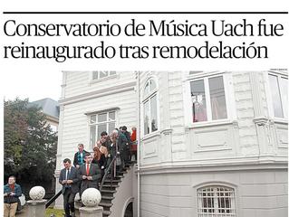 Noticias del Conservatorio de Música UACh