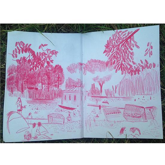 Caderno de desenho: exercícios gráficos a partir da observação