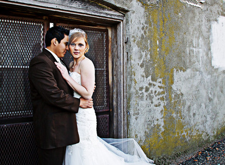 Wedding Portrait In The Alley