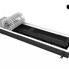 Конвектор внутрипольный электрический с вентилятором