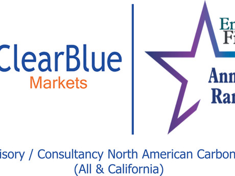 ClearBlue Awarded Best Advisory/Consultancy North American Markets (All & California)
