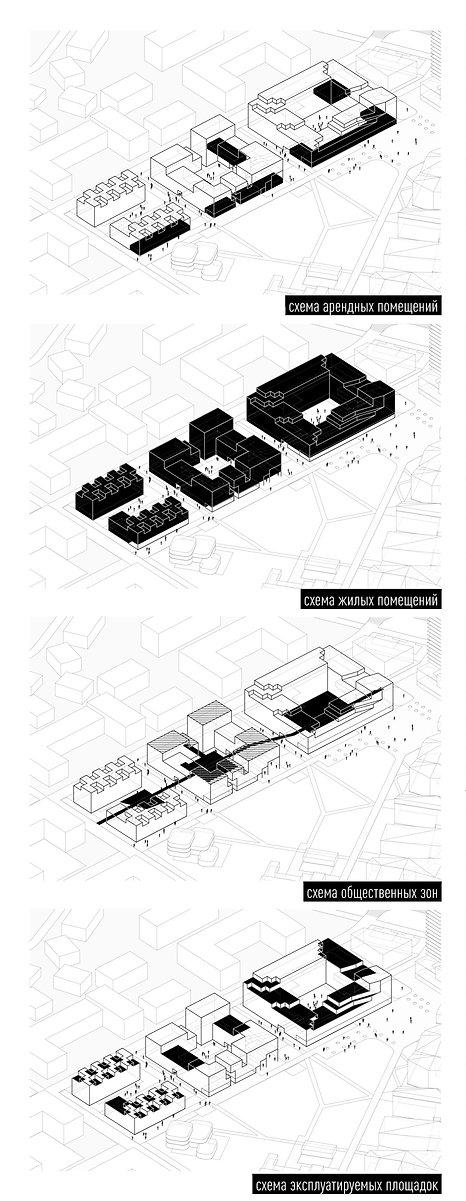 Схема жилого комплекса.