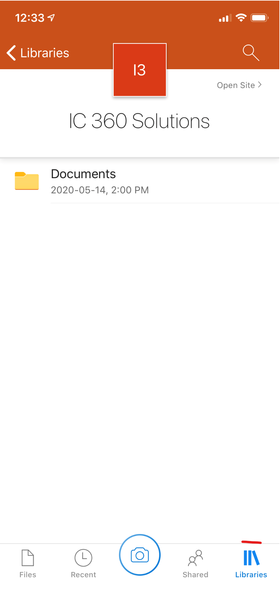 OneDrive on iPhone