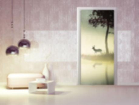 adesivi in pvc con stampa personalizzata per porte
