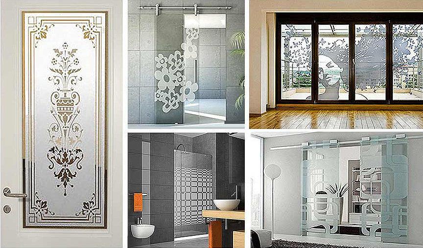 Vetrofanie per la casa, per il bagno e vetrofanie sabbiate per porte