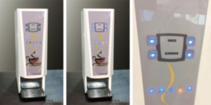 Tastiere in policarbonato lucido con tasti illuminati a led