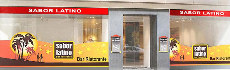 Insegne e adesivi per la decorazione vetrine di un ristorante