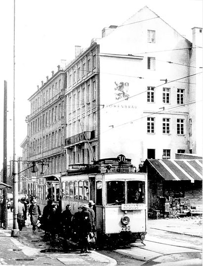 1950 A-Tw 290 in der Perusastraße münchen tram