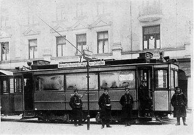 A3-Tw 341 an der Haltestelle Zentnerstraße einwärts 1920 tram münchner