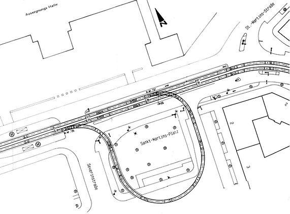 Streckenplan 16 Ostfriedhof  1985.jpg