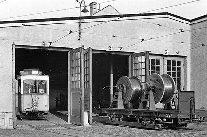 Transportwagen/Fahrdrahttrommel  Typ: q 6.50 Betriebsnummer: 2887 münchen tram