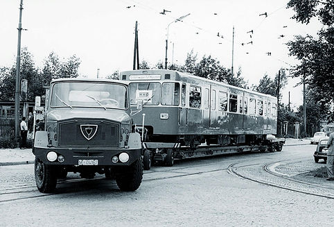 1967 anlieferung 1.u-bahn Soxhletstrasse München Trambahn Tram Betriebhof