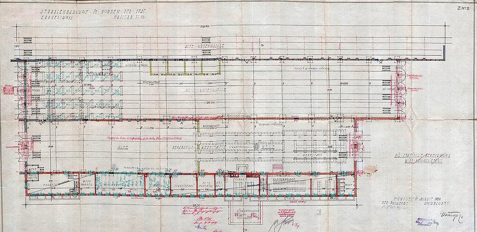 Bauplan Betriebshof Soxhletstraße 1929 Trambahn tram München