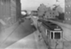 E-Tw 590 an der Haltestelle Nordbad einwärts 29.9.1930 tram münchen