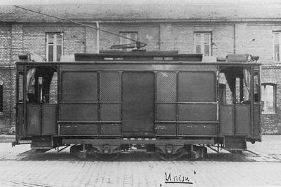 Posttriebwagen  Typ: P 1.22 münchen tram