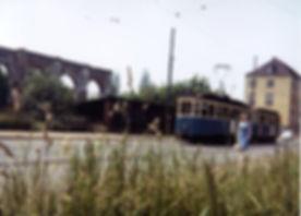 D-Tw 466 in der Galeriestraße 1959 münchen tram