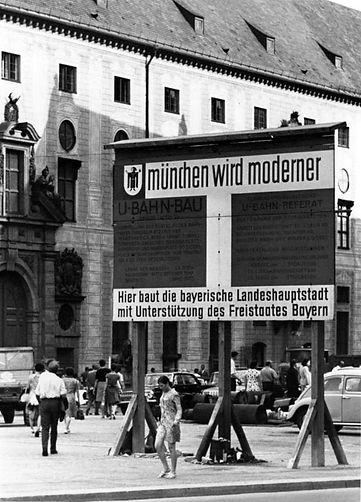 07.1967 Odeonsplatz U-Bahnbau DE-1992-FS