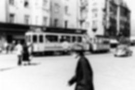A-Tw auf der Kreuzung Wörth-/Preysingstraße 1.10.1954 tram münchen