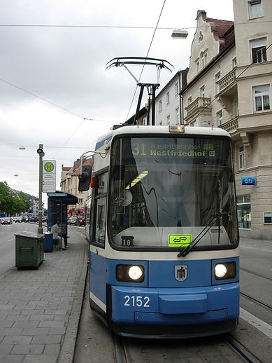 Tw 2152 in Pasing 29.8.2005 tram münchen linie 31
