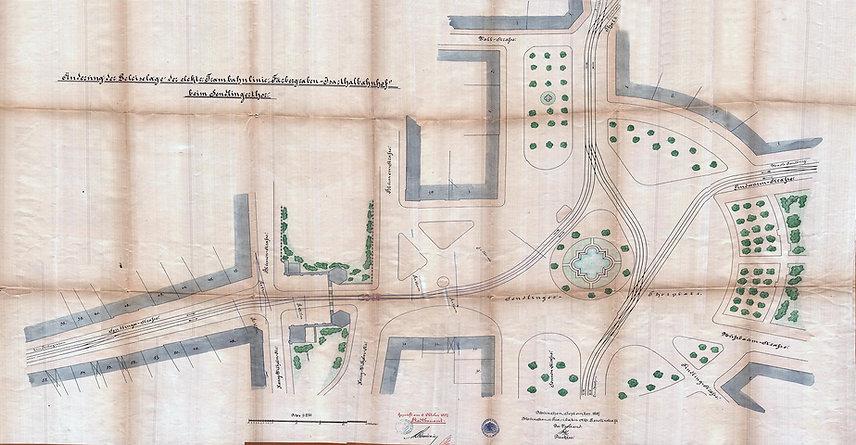 1897 Umbau Gleisanlagen Sendlingertorpla