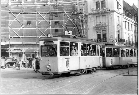 J-Tw 720 am Stachus 26.10.1957 münche tram