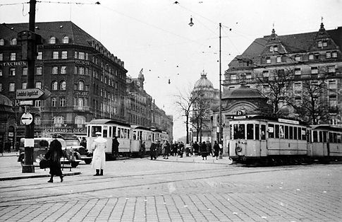 Stachus tram trambahn münchen