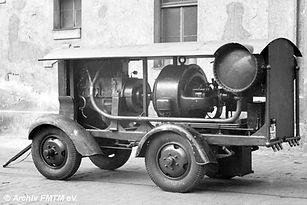 Kompressor Nummer IV 1943 hat schon Schlauch-Reifen münchen tram