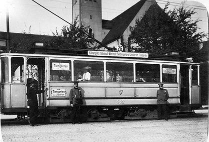 C 4.5-Tw 442 am Kölner Platz 1914 tram münchen
