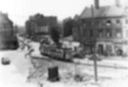 G-Tw 677 + e-Bw kurz vor dem Sendlingertorplatz 14.6.1955 tram münchen